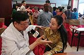 欢乐社区 | 南京电视台生活频道走进圣爱,共话秋季养生。